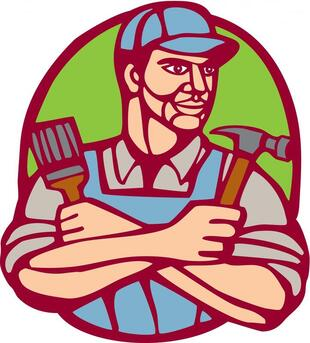 professional fencing fence services worker logo